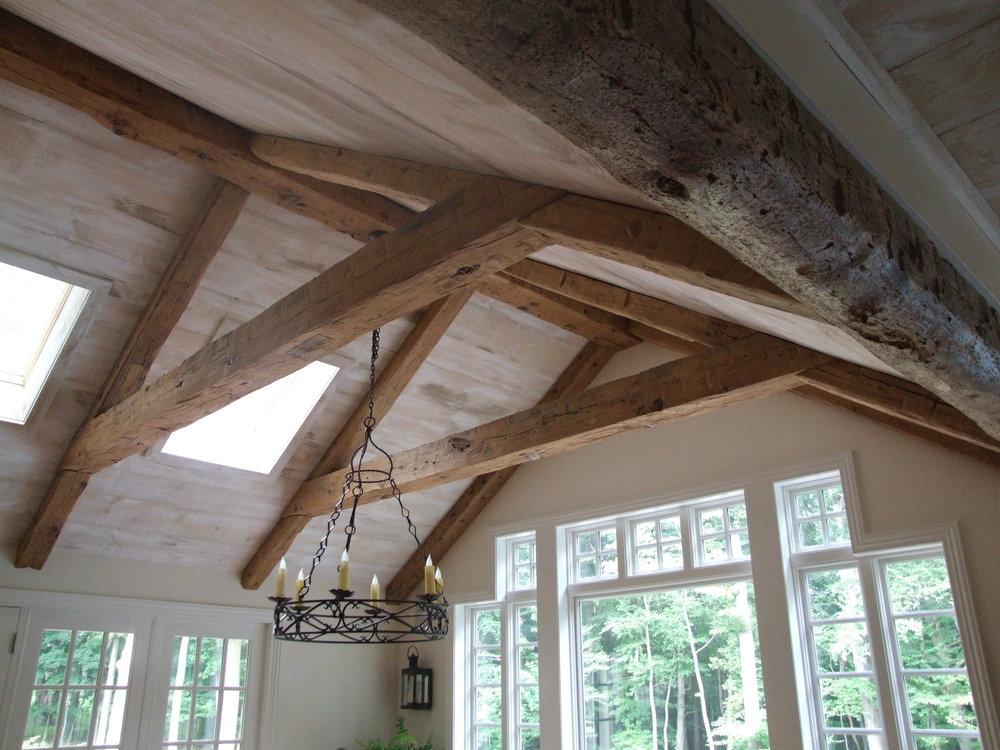 EndGrain Hand Hewn rustic wood beams