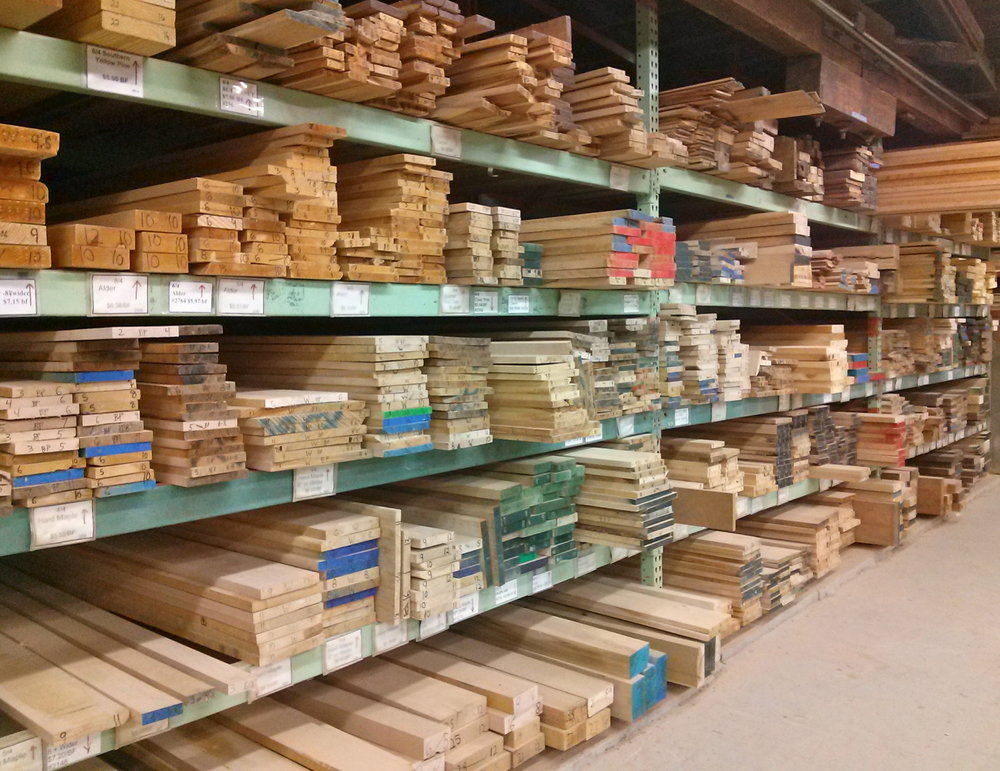 Hardwood lumber racks