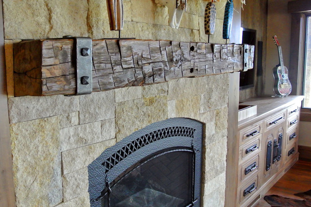 Reclaimed Barn Wood Fireplace mantels -