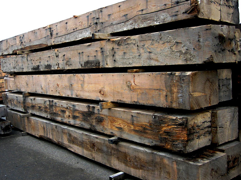 Huge inventory of both new and reclaimed wood beams.