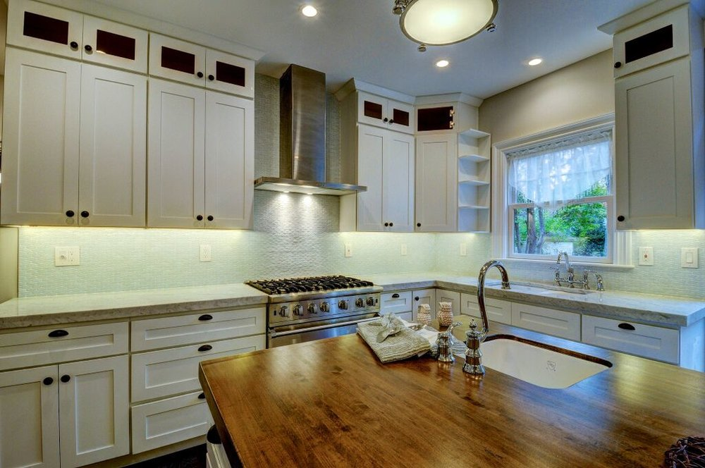 Maple kitchen island counter top.