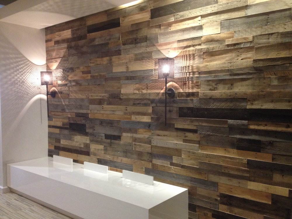 Reclaimed & Rustic Multicolor Siding - $6.25 T&G per sq/ft.  Striking contrasts in colors and materials.