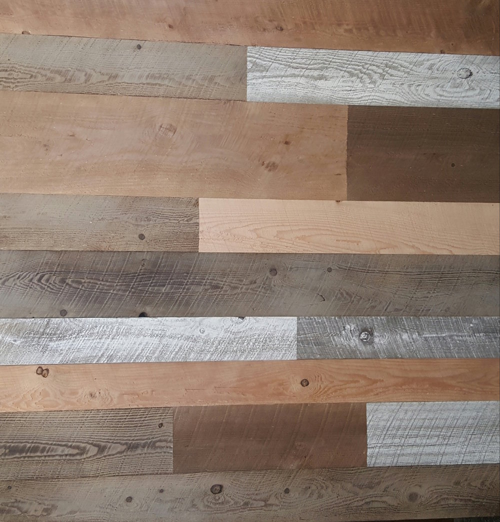 Rustic Multi Colored Siding - $ 5.75 T&G per sq/ft.  The perfect material for that accent or statement wall in your home or business.