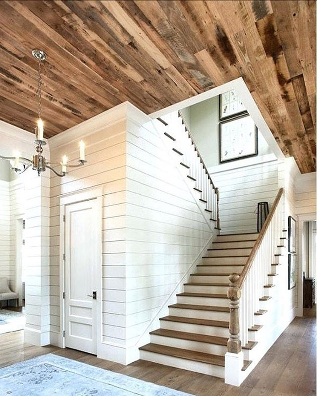 We love the depth and character a reclaimed wood ceiling adds to a space. Click the link in our bio to browse our reclaimed wood stock and then stop by our showroom in Bloomfield, NJ to bring home your unique bundle of this amazing material. | inspiration image source unknown