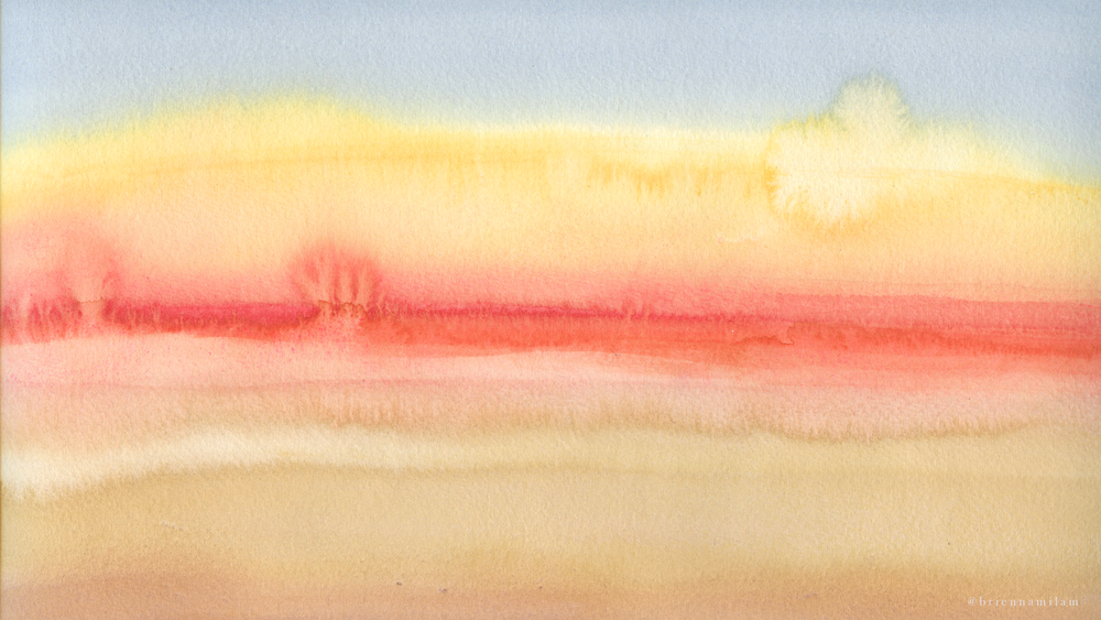 Watercolor Sunset -