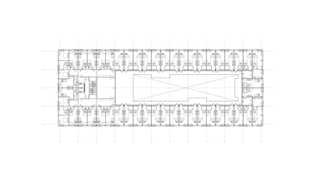 Typical plan of bridge with maisonettes