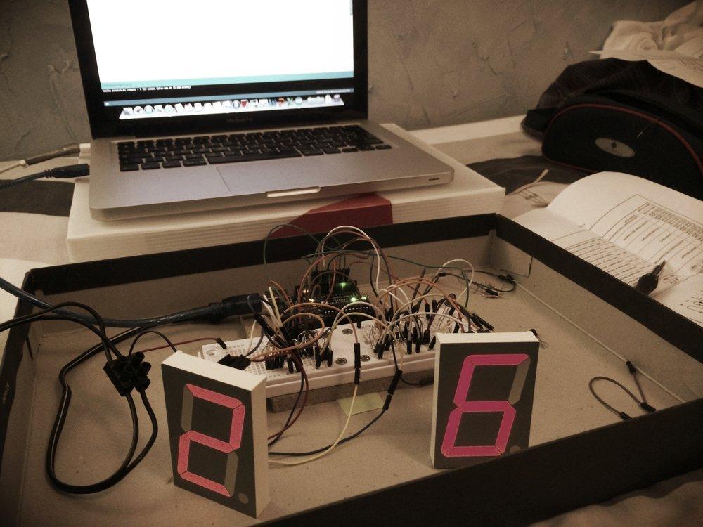 Premiers essais de l'électronique du photobooth ... !