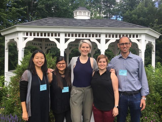 The Broshinsky Delegation! (Front, L-R: Sunny Shin, Valeria Reyes Ruiz, Alex DeLaney, Elisabet Bjanes, Igor Brodsky. Back: Gazebo)