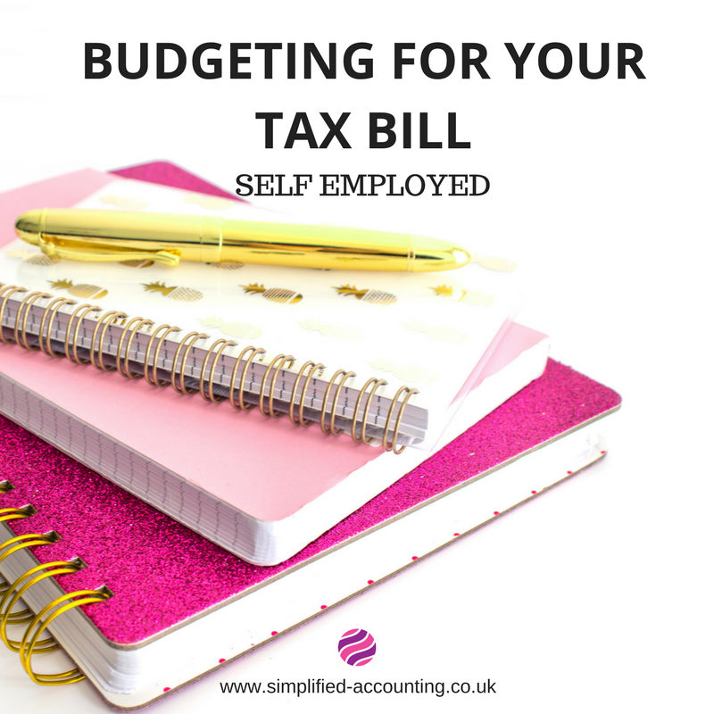 budgeting for your tax bill self assessment simplified accounting