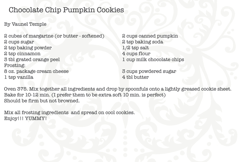 Chocolatechippumpkincookies