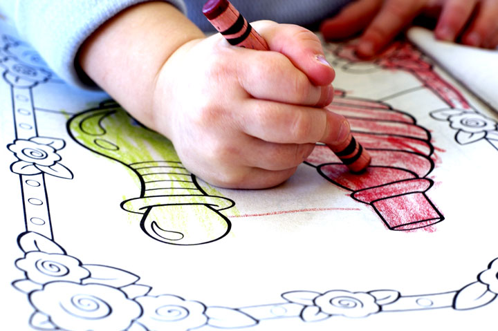 There are a number of surprising benefits to coloring for children of all ages. The following are ten ways that children benefit from coloring.   1.      Handwriting. The same muscles used to hold crayons and markers for coloring are also used for holding pens and pencils for writing. By building these muscles coloring – as well as improving their hand pencil grasp – children can see an improvement in their handwriting. 2.      Hand-eye Coordination. Making small movements to shade in a specific area can help young children improve their motor function and hand-eye coordination. This is especially true of difficult or challenging patterned coloring sheets. 3.     Color recognition. Young children can benefit from coloring as they are learning color recognition, such as picking a green crayon for grass or a blue crayon for the sky. Likewise, older children can explore mixing colors to create different blends and combinations; coloring can also help children learn the names of lesser known colors such as fuchsia, onyx, umber, or marigold. 4.     Focus. Studies have shown that children who regularly color have improved concentration and focus. These skills go beyond just finishing a coloring page; better focus can help your child concentrate in school, complete work, and get homework done in the evening. 5.     Creativity. Drawing and coloring helps your child express their creativity. Even if your child colors outside the lines or uses the wrong colors for everyday objects, praise their work. Coloring is also an opportunity to teach your children how to choose complementary colors or fill up blank space on a page. 6.    Relaxation. While it teaches other applicable skills, coloring is relaxing and fun more than anything else. Likewise, completing a coloring page – no matter how difficult – gives children a sense of pride and accomplishment. 7.                        8.  Quality time. Coloring can be just as relaxing and enjoyable for adults as it is for children. After a difficult day, sit down with your child and work on a coloring page! Not only will you get to spend quality time together, but it can be a fun way to end your day together.