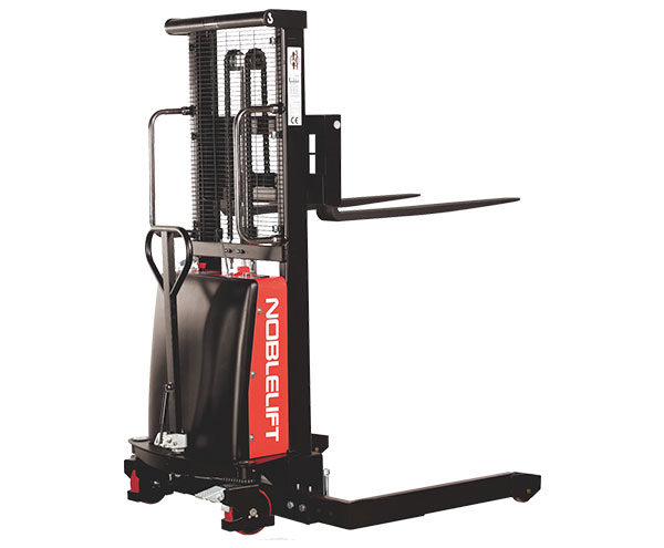 SPN22AG Series Semi-Electric Stacker - An economic choice for light-duty stacking and pallet positioning applications.2200 lb Capacity
