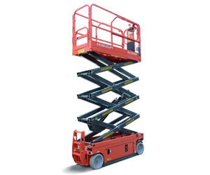 SC2645H Self Propelled Scissor Lifts - Best value scissor lift with provided quality, safety and performance.26 ft Platform Height / 45 in Platform Width