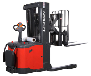 PS30RP Series Electric Walkie Reach Stacker - The most versatile walkie stacker with pantograph reach and tilting fork.3000 lb Capacity