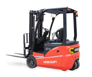 FE3D N Series 3-Wheel Electric Rider Forklift - AC powered electric forklifts with exceptional performance and low cost of operation.