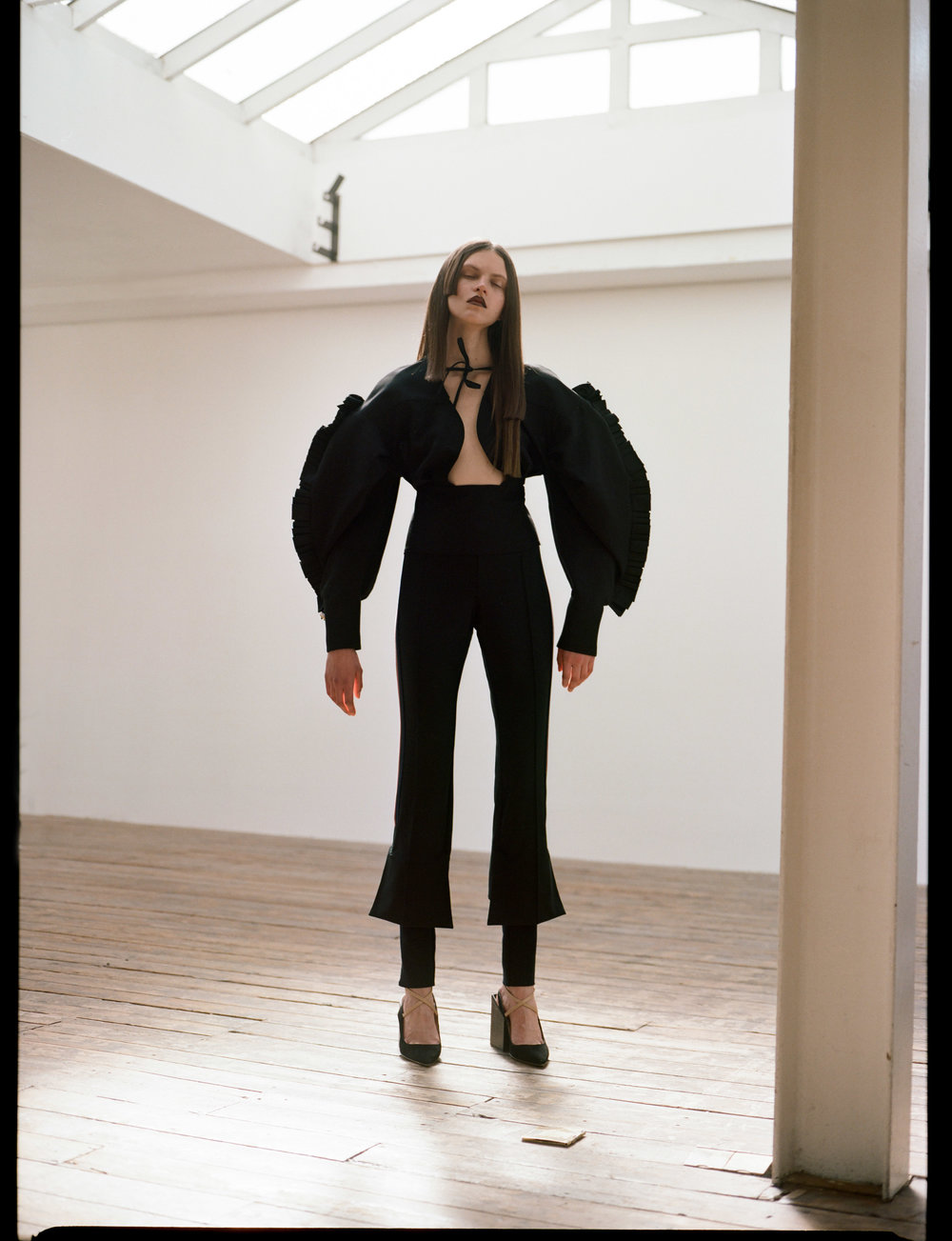 Blouse  Jacquemus    Trousers  TOGA Pulla    Shoes  Jacquemus