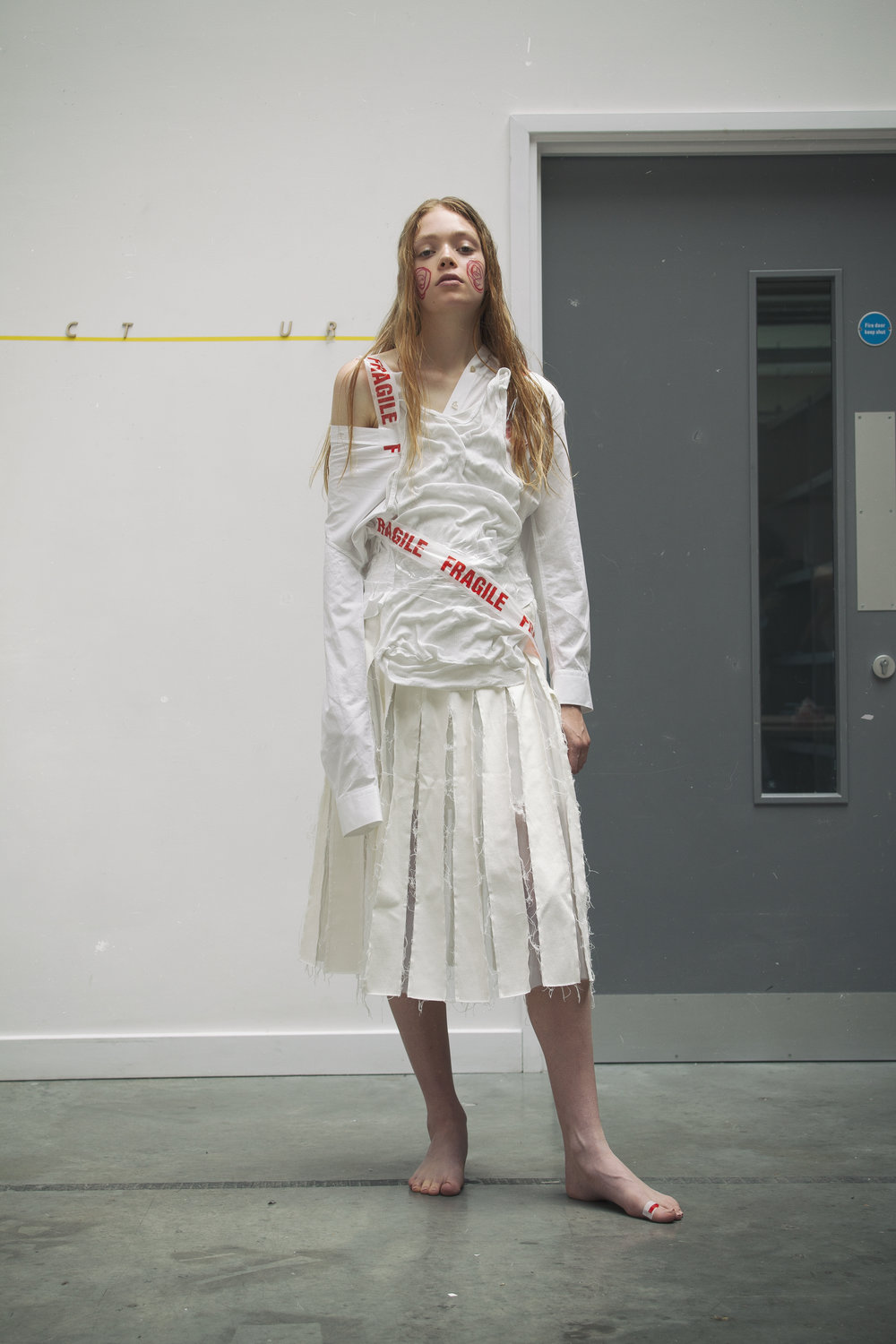 Shirt  ALEXACHUNG    Skirt  Regina Pyo at Young British Designers