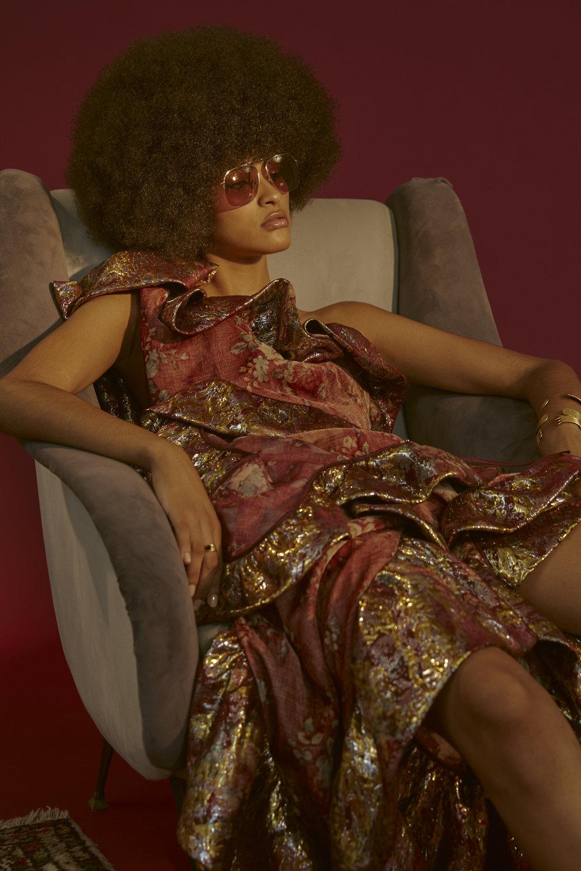 Dress Vivienne Westwood  Sunglasses Zadig & Voltaire Bracelets and Ring Emmanuelle Zysman