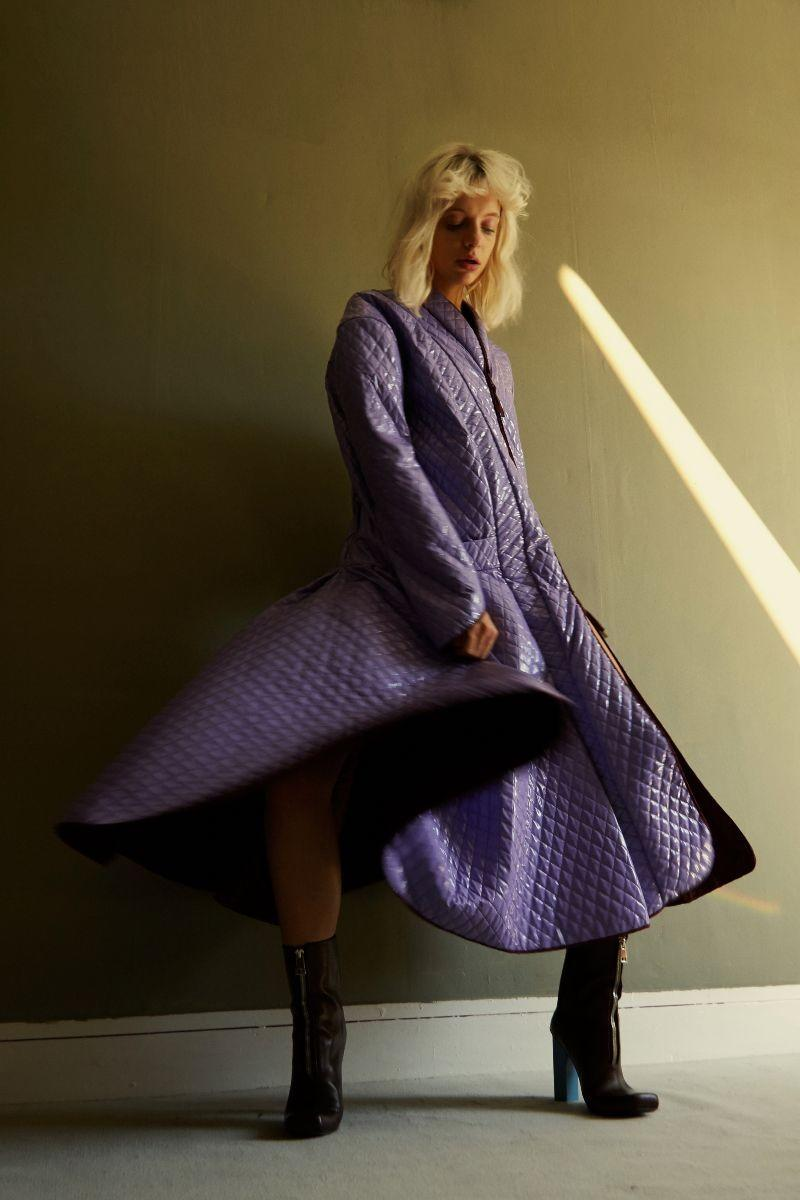 Vinyl Coat  Andreas Kronthaler for Vivienne Westwood    Shoes  Wanda Nylon