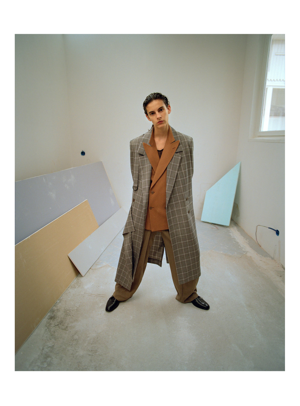 PANTS  AALTO    JACKET, BLAZER, SHOES  VINTAGE