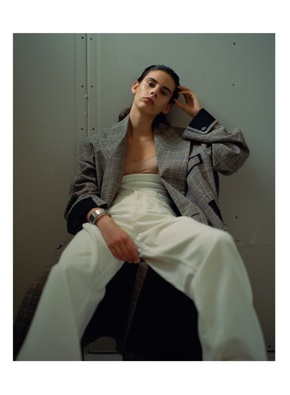 COAT AND PANTS  MAISON   MARGIELA    WATCH  BLESS    BODY SUIT  MAX THOMAS SANDERSON