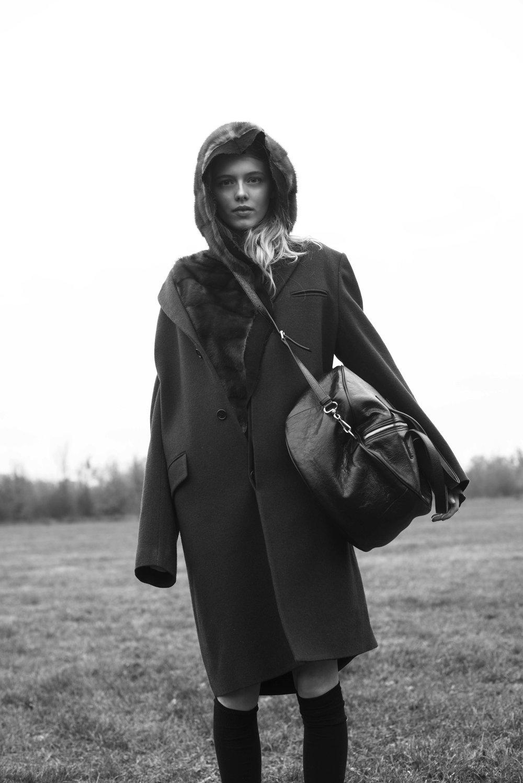 Jacket  MARNI  Fur Jacket  MSGM  Bag  BALENCIAGA  Socks  MISSONI   Shoes  EYTYS