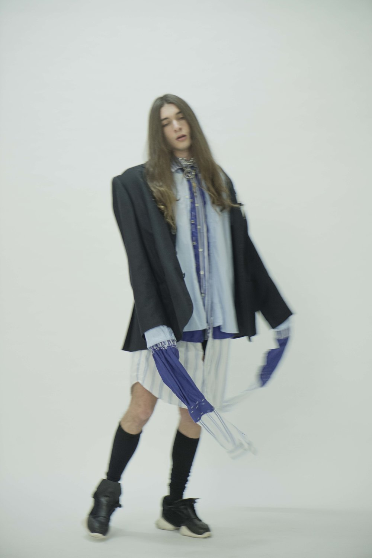 Jacket  Vintage  Shirts  FRANCESCO GIANFRATE   Socks  MISSONI  Shoes  RICK OWENS
