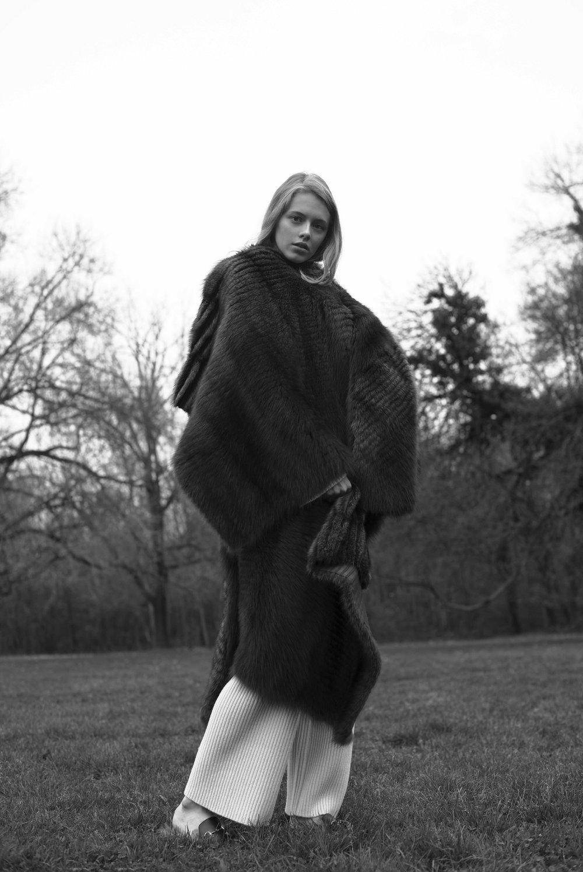 Fur Coat  VIONNET  Trousers and Shirt  CELINE  Shoes  GUCCI