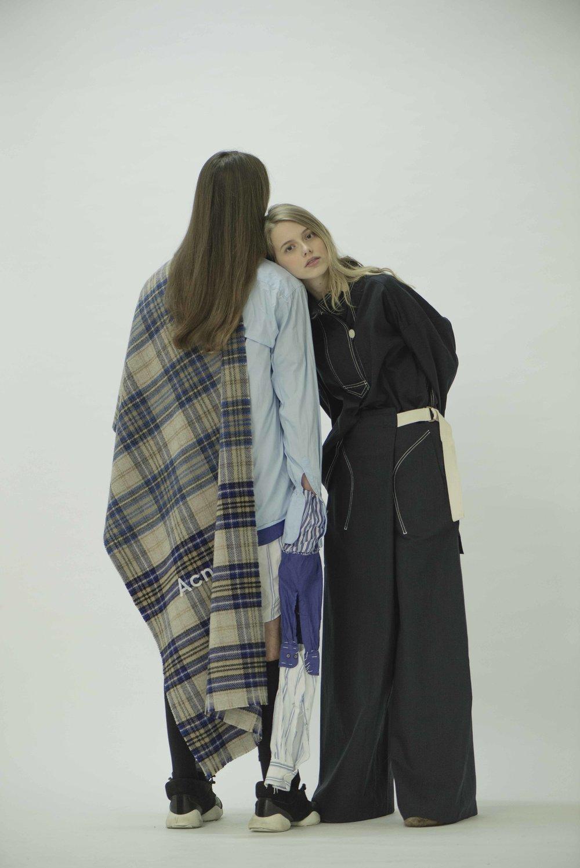 Olivia wears Jacket and Trousers  MARNI  Shoes  GUCCI   Francesco wears Shirts  FRANCESCO GIANFRATE  Scarf  ACNE STUDIOS  Shoes  RICK OWENS