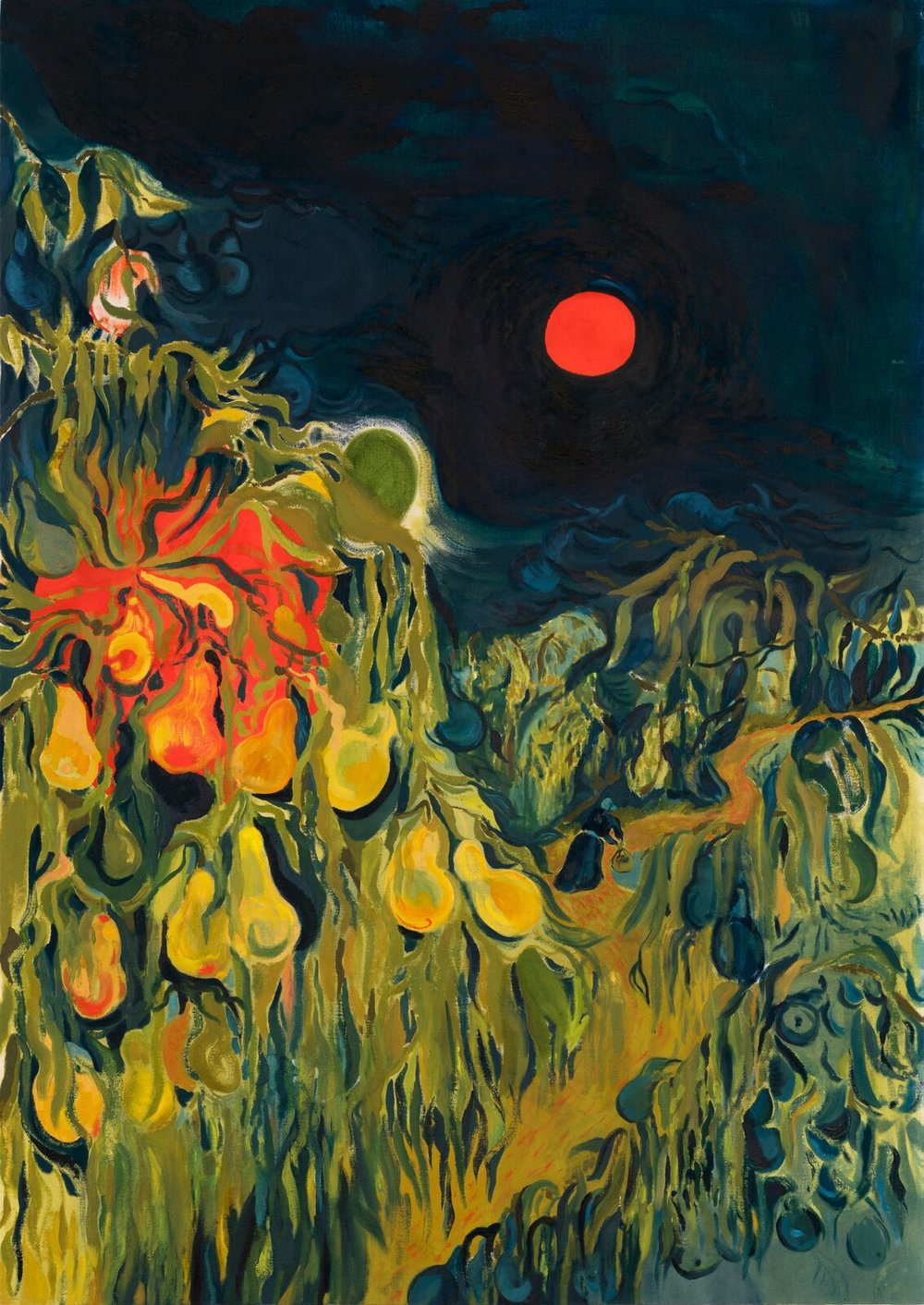 Red Moon In The Orchard