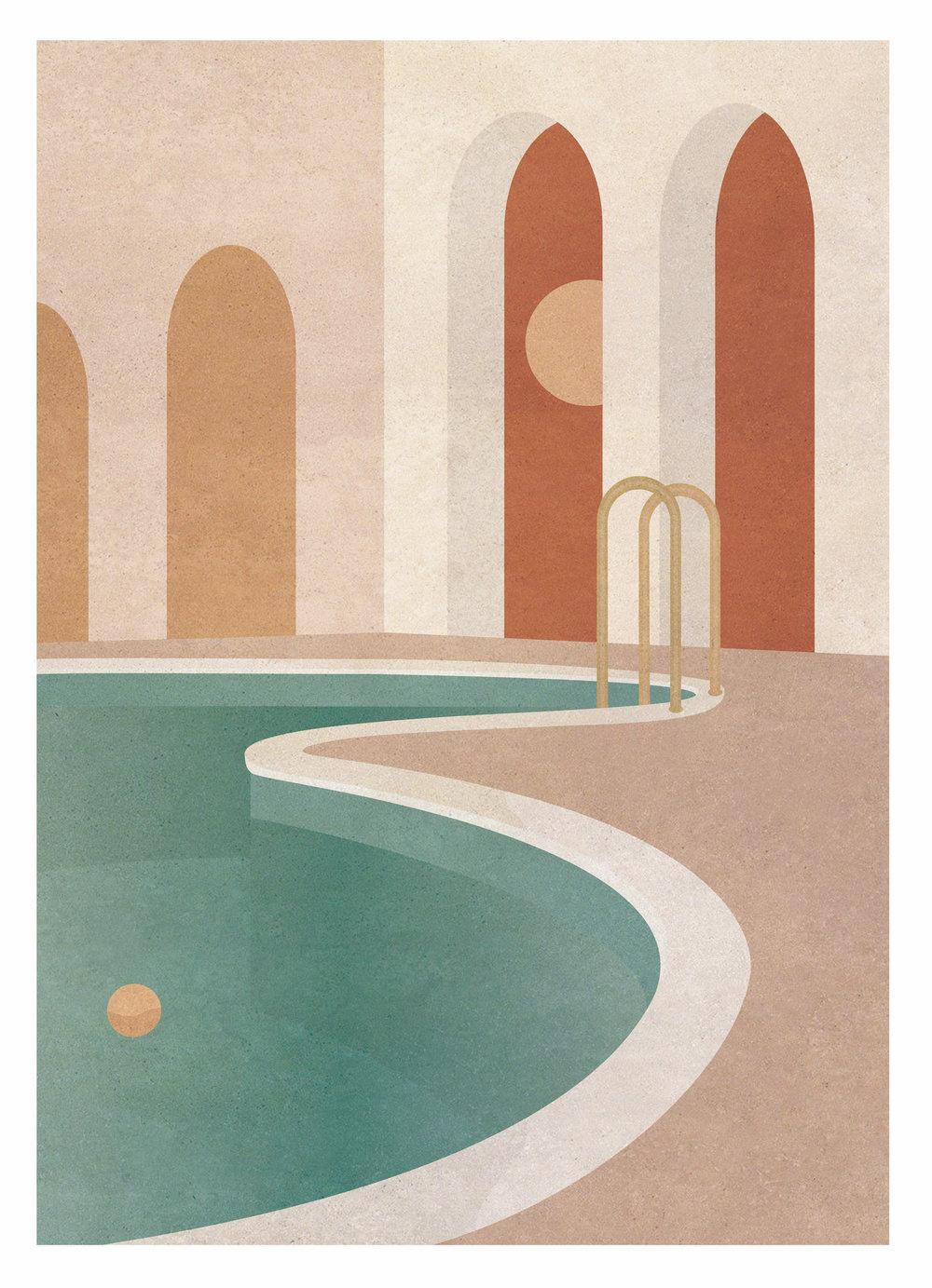 Morning Swimming Pool