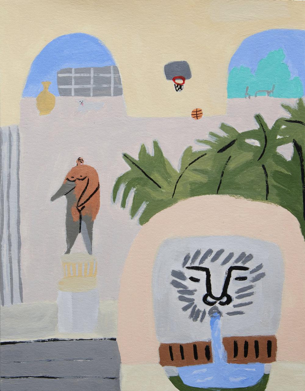 Pastel Courtyard