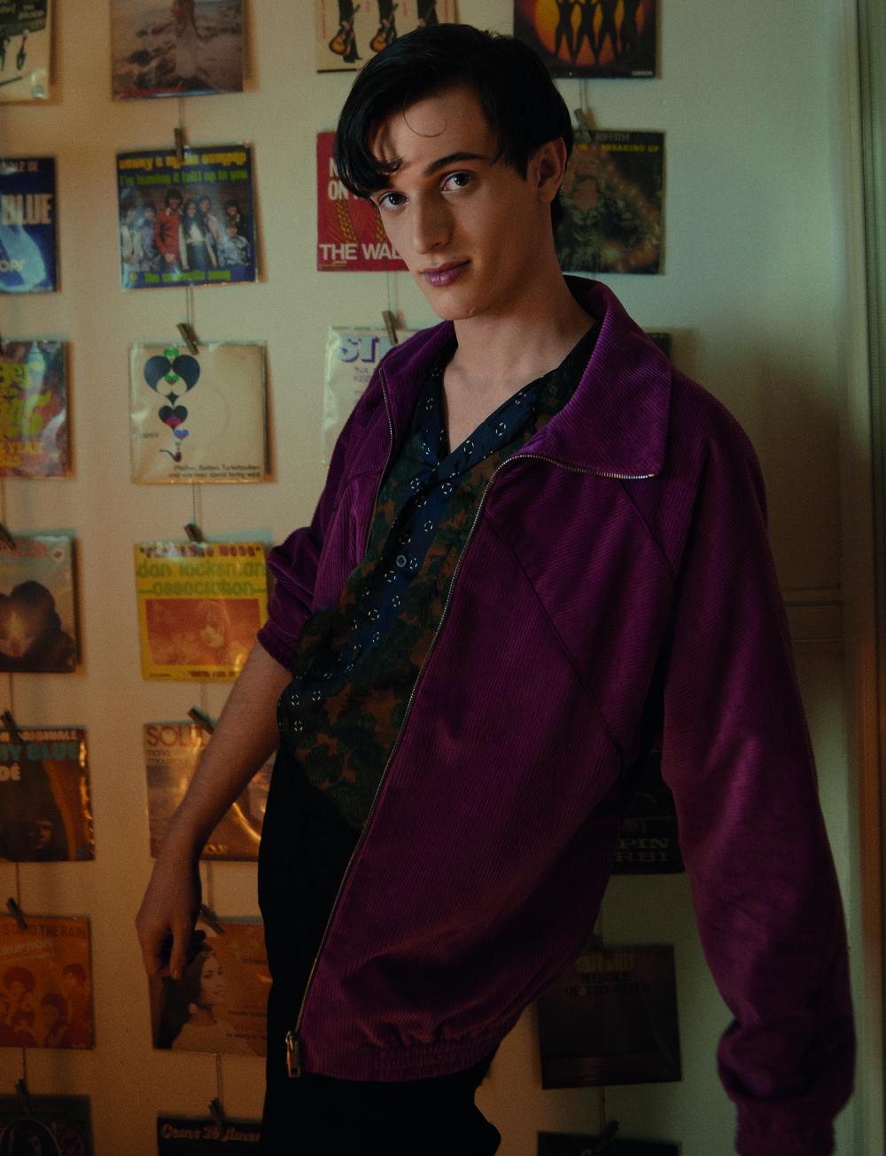 Jacket  BALLY   Shirt  DRIES VAN NOTEN  Trousers  ISSEY MIYAKE MEN