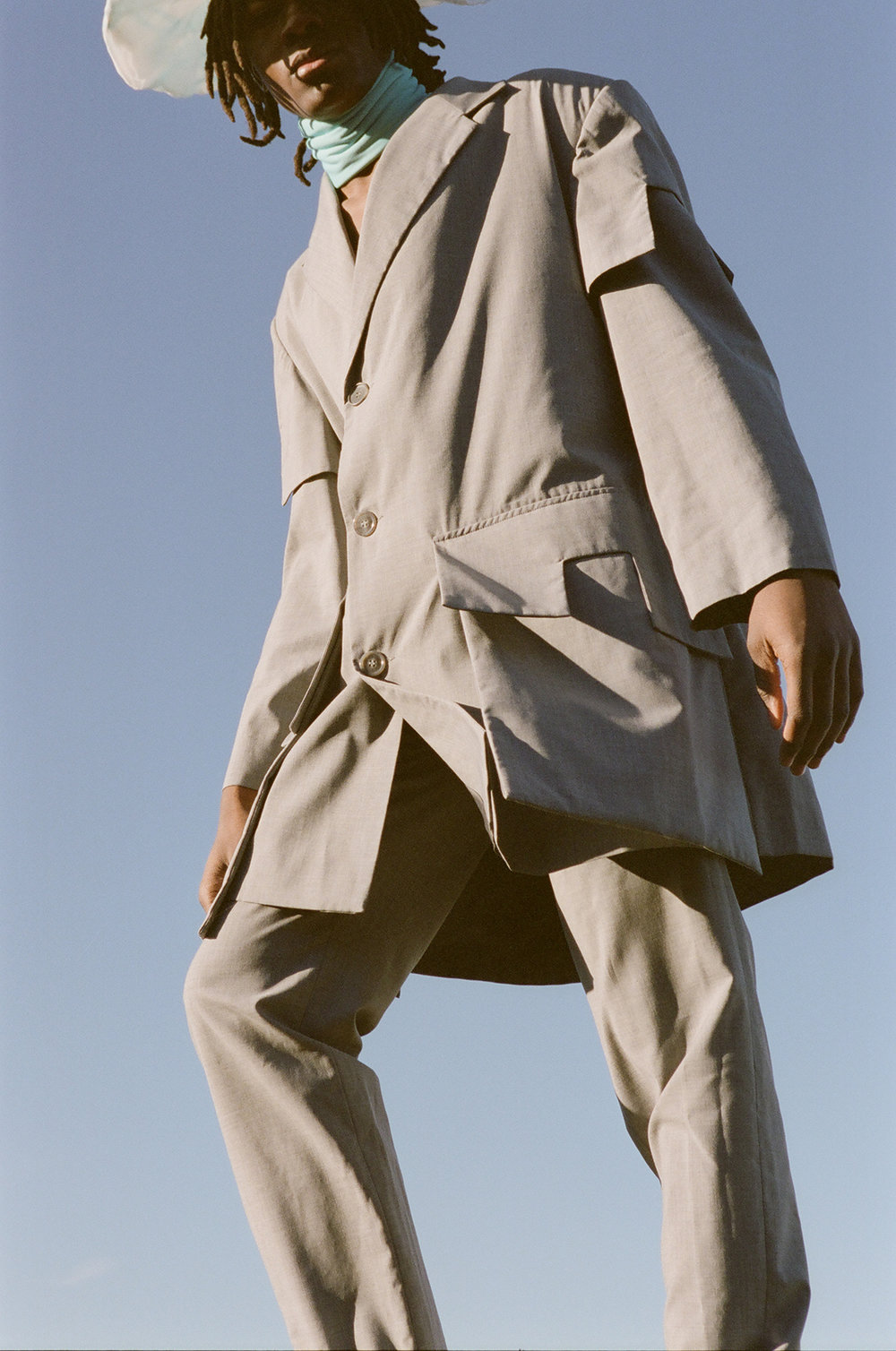 Hat  AMANDA VARHAUGVIK     Jacket and Trousers  NAND