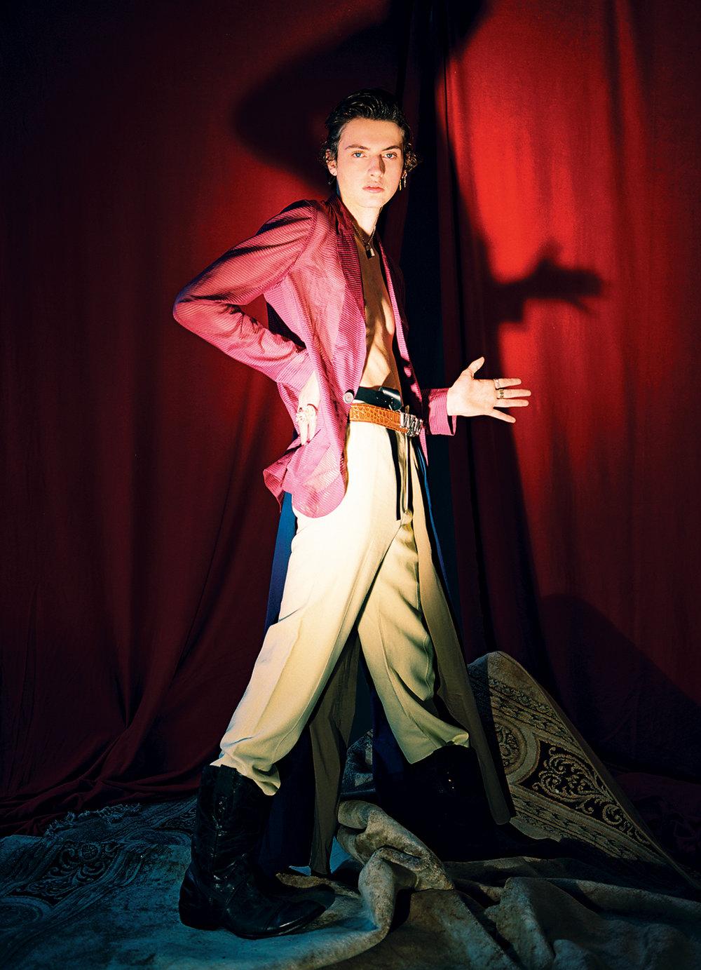Jacket  PRABAL GURUNG  Trousers  GUCCI  Shoes  Frye Miles Vintage