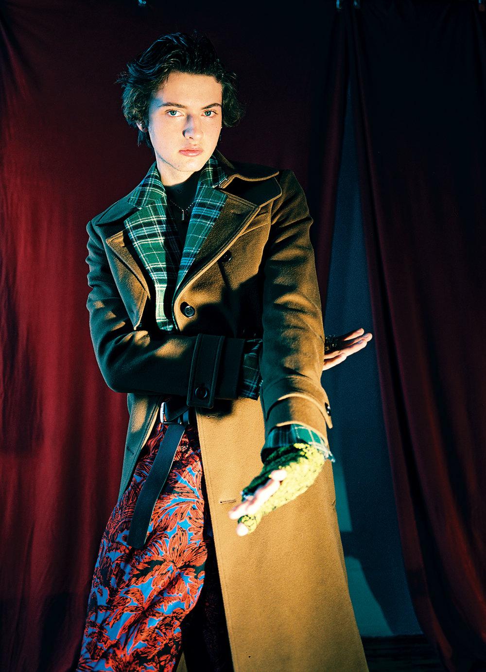 Jacket  GUCCI  Coat and Gloves  DIOR HOMME  Trousers  3.1 Phillip Lim  Shoes  Ermenegildo Zegna