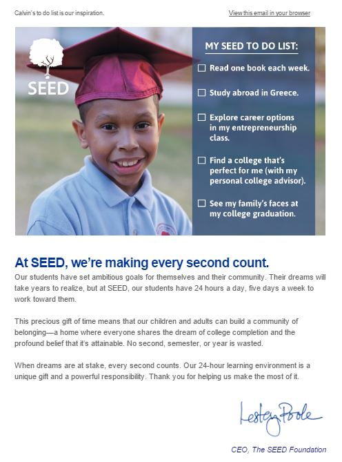 Take a look at all the things Calvin will accomplish with SEED's 24-hour learning environment.