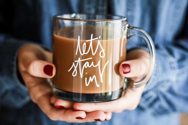Somehow... lately (perhaps thanks to @joannagaines) being a homebody no longer has the stigma I once remember it having... 🙌🏼🙌🏼✨ so- for those of you who are embracing it this winter- here's a mug for you!! 😊 . #homebody #cozy #valentines #valentinesmug #cutemug #shopsmall #coffee #coffeemug #beholdenlife #cozyvibes #wintermug #slowdown #home