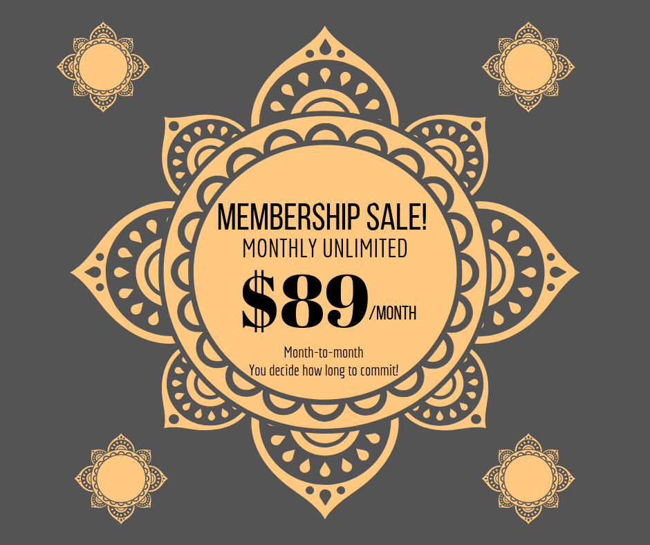 $89 MONTHLY UNLIMITED MEMBERSHIP