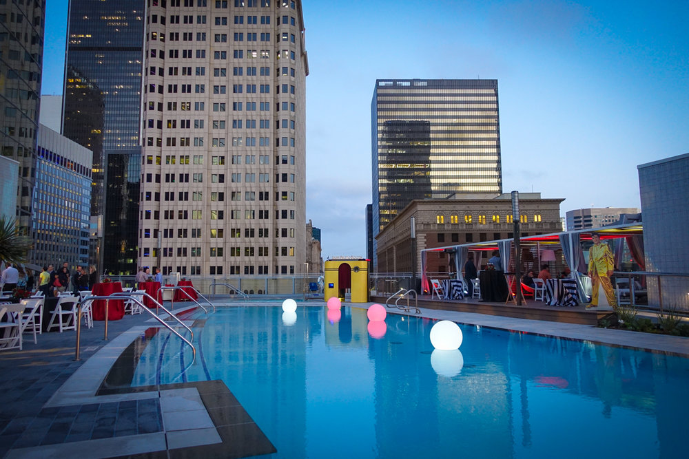 Poolside at the brand new InterContinental Los Angeles Downtown Hotel! Thanks to our friends at @Los Angeles Party Design Inc for including us at their fabulous event