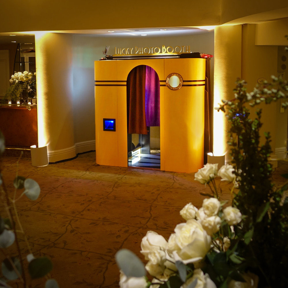 The photo booth is a perfect fit at The Beverly Hills Hotel!