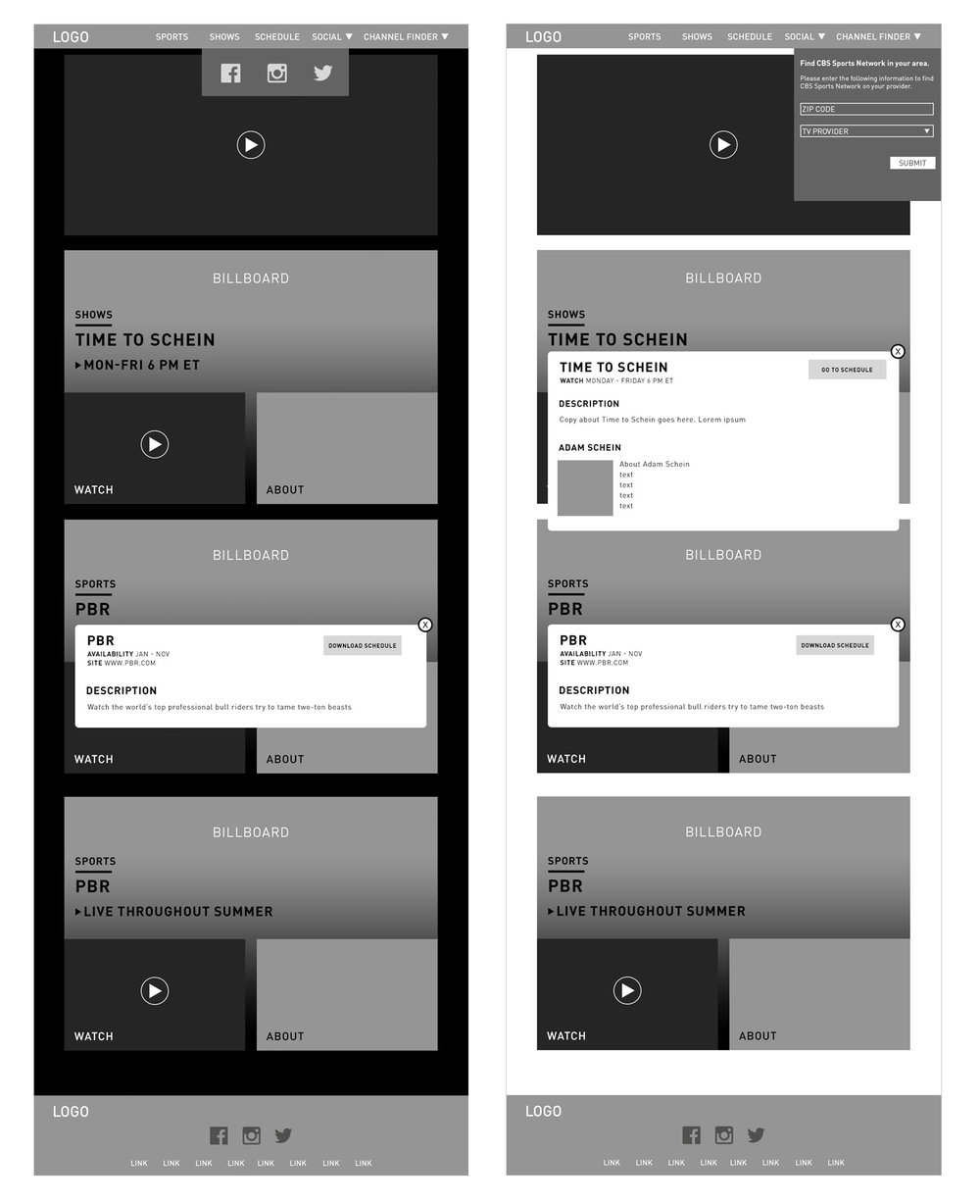 Wireframes 4-5:
