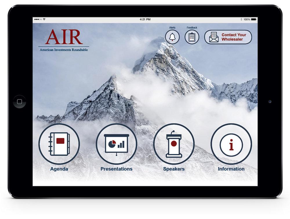 Eventpad App Home Screen