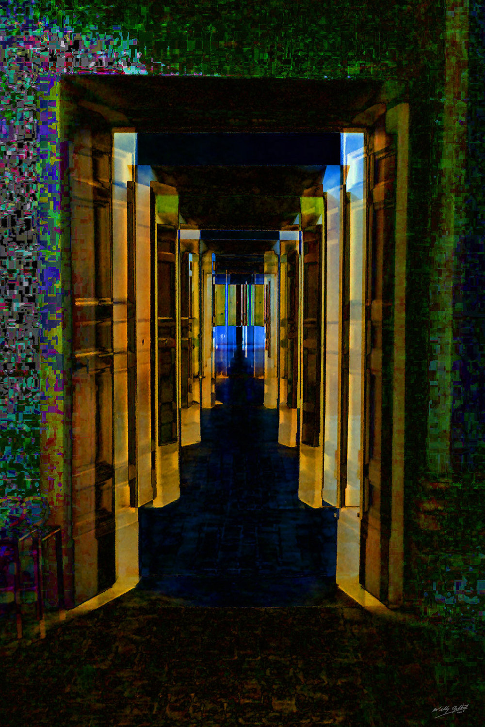 """Doors to Nowhere"" 60"" x 40"", 2015, Print on Aluminum, 2/5                $4000."