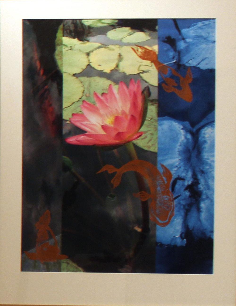 """Dans le Jardin""  Silkscreen,  22 x 30 inches $700"
