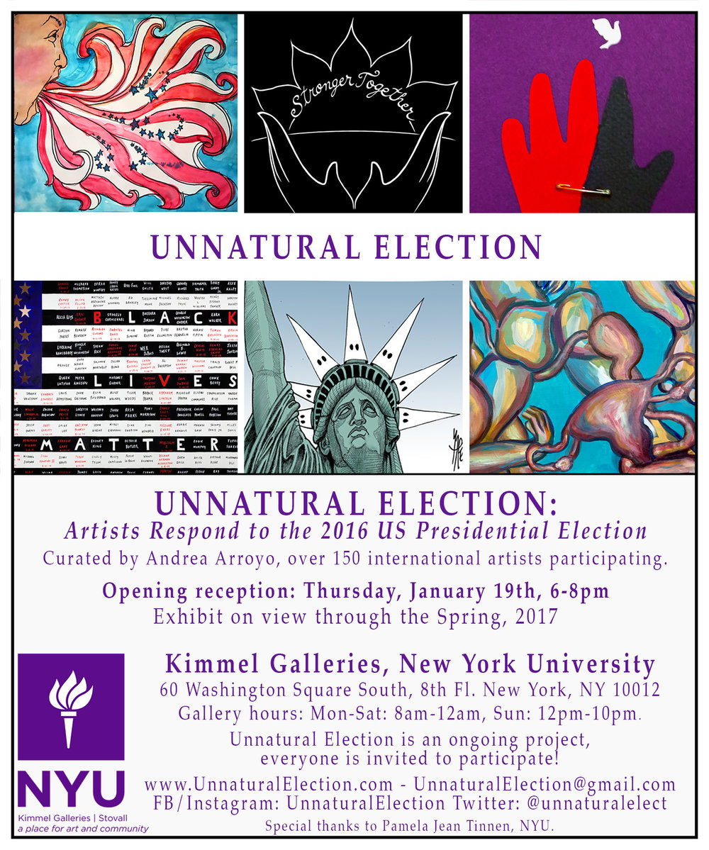Alan Gaynor And Stacey Clarfield Newman In Group Show At The Kimmell Galleries NYU Unnatural Election Artists Respond To 2016 US Presidential