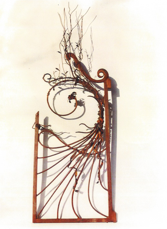 """Wildwood Gate"", 7'H x 3.5 ' H x 4"" D, Steel"