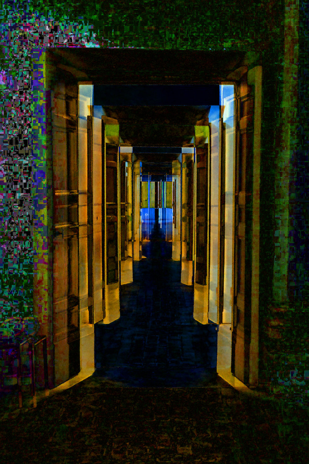 """Doors to Nowhere""  45"" x 30"" Digital print on Aluminum with a high gloss finish."