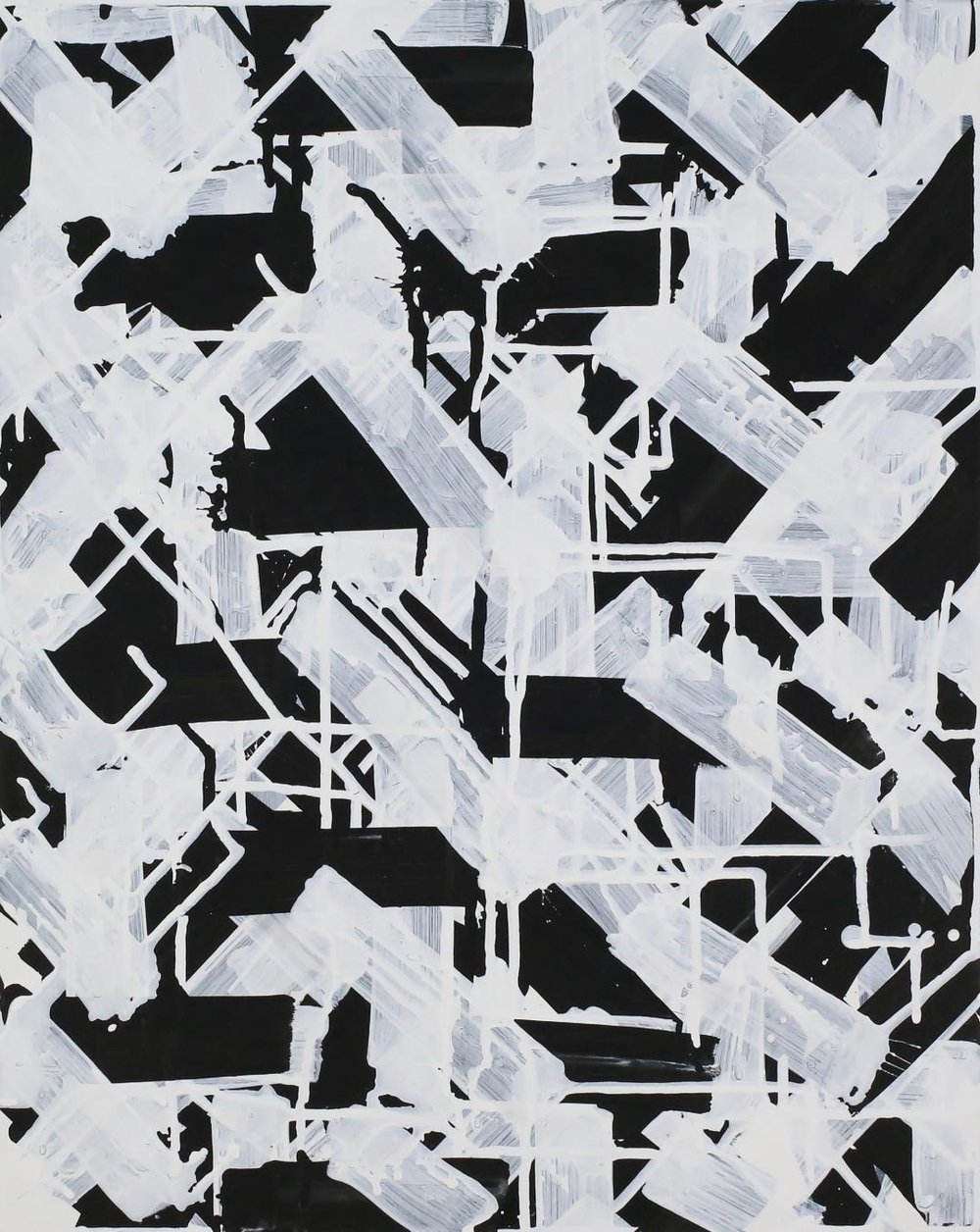 """Surmountable Odds, Acrylic on Panel, 20""""x16"""", 2018, $900"""
