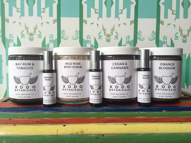 We're carrying @xodobotanicals now in Baton Rouge.  Handcrafted in Nola. Roll on scents, candles and an amazing sugar rub.  Stop in to grab some local goods.  #gaudetbros #gaudetbrosbr  #shoplocal